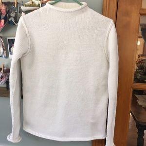 Calvin Klein Cotton Roll Neck Sweater, size S